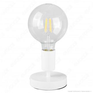 Airam Bot Lighting Liv Lampada da Tavolo con Portalampada per Lampadine E27 Colore Bianco - mod. 4126241