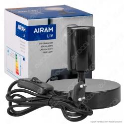 Airam Bot Lighting LIV Lampada da Tavolo con Portalampada per Lampadine E27 Colore Nero 11cm - mod. 4126242
