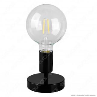 Airam Bot Lighting LIV Lampada da Tavolo con Portalampada per Lampadine E27 Colore Nero - mod. 4126242