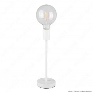 Airam Bot Lighting LIV Lampada da Tavolo con Portalampada per Lampadine E27 Colore Bianco 36cm - mod. 4126244
