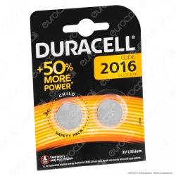Duracell Lithium CR2016 / CR / DL2016 / BR2016 Pile 3V - Blister 2 Batterie