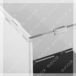 Lampateca Cubo Piccolo Espositore in Plexiglass con Cavo per 1 Lampadina con Attacco E27 - Made in Italy