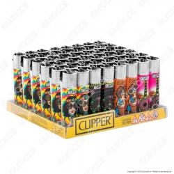 Clipper Large Fantasia Hippie Peace 2 - Box da 48 Accendini