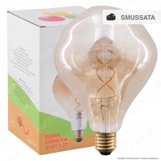 FAI Lampadina E27 Filamento LED a Doppia Spirale 5W Bulb Effetto Erosione Naturale Dimmerabile - mod. 5227/CA/ORO