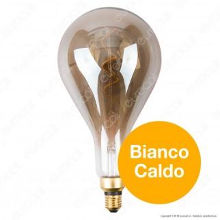 FAI Lampadina E27 Filamento LED a Spirale 5W Bulb A160 con Vetro Ambrato Oscurato Dimmerabile - mod. 5223/CA/FU