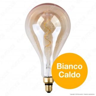 FAI Lampadina E27 Filamento LED a Spirale 5W Bulb A160 con Vetro Ambrato Dimmerabile - mod. 5223/CA/ORO