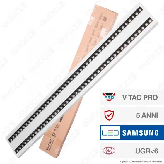 V-Tac PRO VT-7-62 Lampada LED a Sospensione Linear Light 60W Chip Samsung White Body Dimmerabile - SKU 608