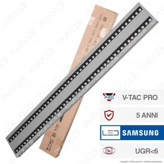 V-Tac PRO VT-7-62 Lampada LED a Sospensione Linear Light 60W Chip Samsung Silver Body Dimmerabile - SKU 609