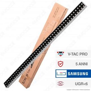 V-Tac PRO VT-7-61 Lampada LED a Sospensione Linear Light 60W Chip Samsung Silver Body Dimmerabile - SKU 607