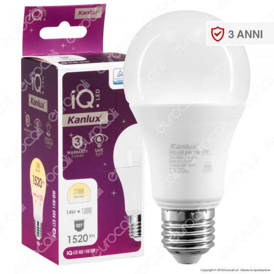 Kanlux IQ Lampadina LED E27 14W Bulb A60 - mod. 27279 / 27280