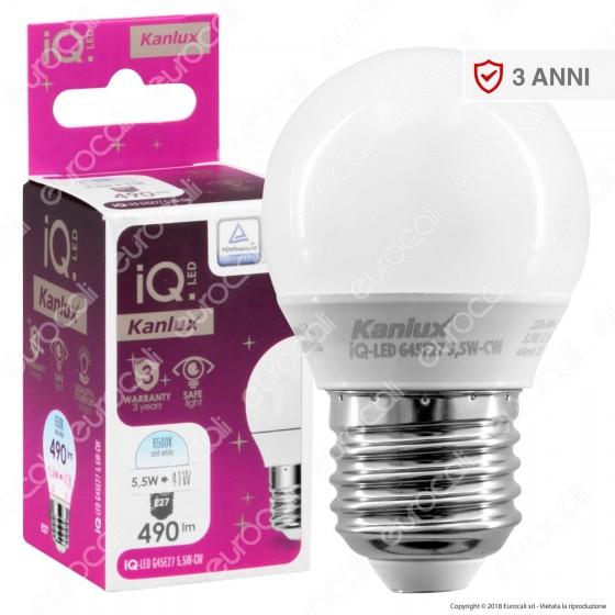 Kanlux IQ Lampadina LED E27 5,5W MiniGlobo G45 - mod. 27303 / 27304 / 27305