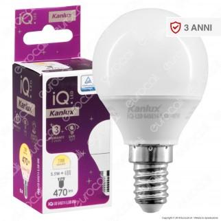 Kanlux IQ Lampadina LED E14 5,5W MiniGlobo P45 - mod. 27300 / 27301 / 27302