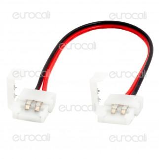 Connettore Flessibile per Strisce LED Monocolore 3528 Clip 2 Pin - SKU 3500