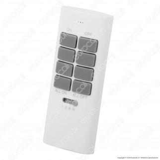 Life Radiocomando con 12 Canali Memorizzabili per Presa Wireless Bivalente - mod. 38.1040401R