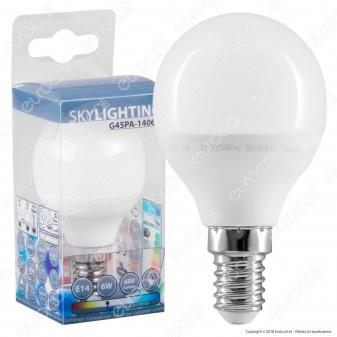SkyLighting Lampadina LED E14 6W MiniGlobo P45 - mod. G45PA-1406C / G45PA-1406D / G45PA-1406F