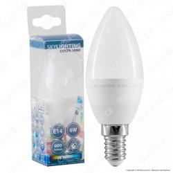 SkyLighting Lampadina LED E14 6W Candela - mod. C37CPA-1406C / C37CPA-1406D / C37CPA-1406F