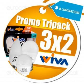 3X2 Acquistando Lampadine LED Wiva Tripack