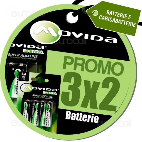 3X2 Acquistando Pile Alcaline Movida