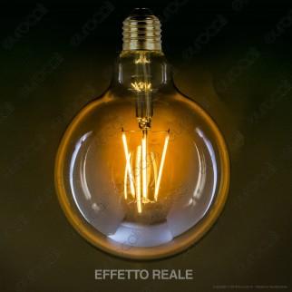 Bot Lighting Lampadina LED E27 7W Globo G125 Filamento Ambrata - mod. WLD4008X2G