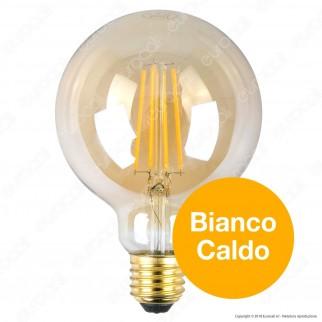 Bot Lighting Lampadina LED E27 7W Globo G95 Filamento Ambrata - mod. WLD4208X2G