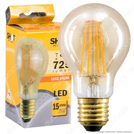 Bot Lighting Lampadina LED E27 7W Bulb A60 Filamento Ambrata - mod. WLD1008X2G