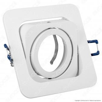 Kanlux ALREN R DTL-W Portafaretto Orientabile Quadrato da Incasso per Lampadine GU10 e GU5.3 - mod.26758