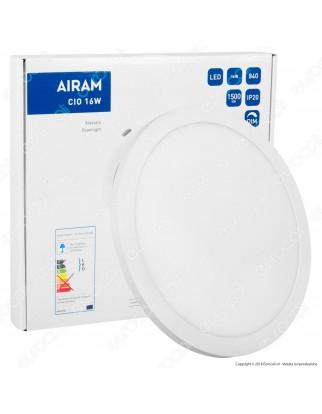 Airam Bot Lighting Pannello LED Rotondo 16W SMD a Montaggio Superficiale o Incasso Dimmerabile - mod. 4126219 / 4126261
