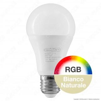 V-Tac Smart VT-5010 Lampadina LED Wi-Fi E27 9W Bulb A60 RGB+W Dimmerabile - SKU 7450 / 7451 / 7452