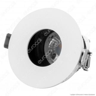 V-Tac VT-873RD Portafaretto Orientabile Rotondo da Incasso per Lampadine GU10 e GU5.3 - SKU 3157