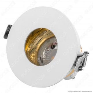 V-Tac VT-873RD Portafaretto Orientabile Rotondo da Incasso per Lampadine GU10 e GU5.3 - SKU 3158