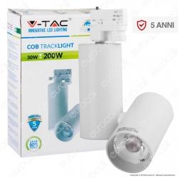 V-Tac VT-4635 Track Light LED COB 30W CRI≥95 Colore Bianco - SKU 1292