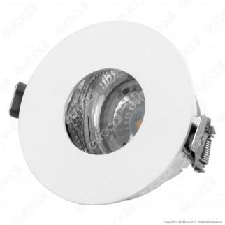 V-Tac VT-873 Portafaretto Orientabile Rotondo da Incasso con Interno Cromato per Lampadine GU10 e GU5.3 - SKU 3160