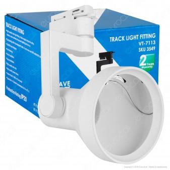 V-Tac VT-7113 Portalampada Track Light Orientabile per Lampadine E27 PAR 30 - SKU 3550