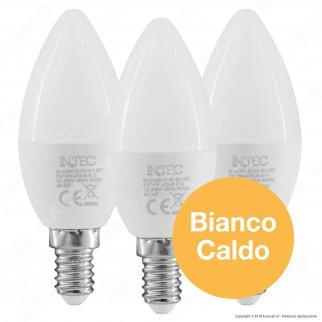 Fan Europe Intec Light Confezione Risparmio 3 Lampadine LED E14 6W Candela