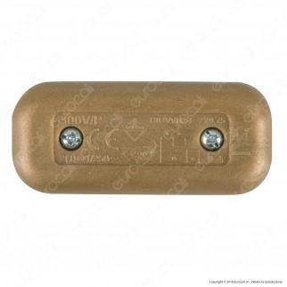FAI Interruttore Passafilo Unipolare a Bilanciere Colore Oro - mod. 1190/OR