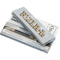 Cartine Rizla Silver Corte Argento - Libretto Singolo