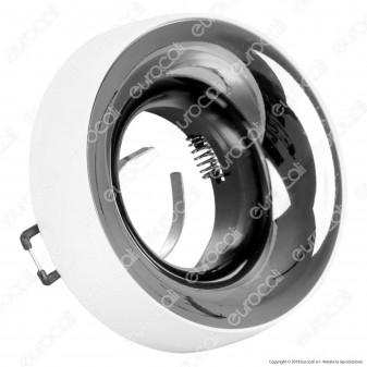 Kanlux ELNIS L Portafaretto Rotondo da Incasso Colore Bianco e Antracite per Lampadine GU10 e GU5.3 - mod. 27805