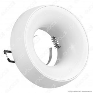 Kanlux ELNIS L Portafaretto Rotondo da Incasso Colore Bianco per Lampadine GU10 e GU5.3 - mod. 27804