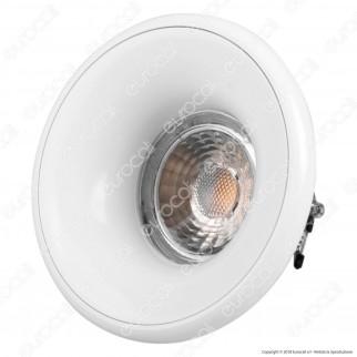 Kanlux ELNIS S Portafaretto Rotondo da Incasso Colore Bianco per Lampadine GU10 e GU5.3 - mod. 27800