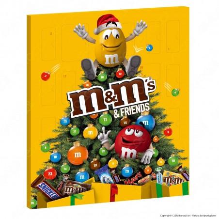 M&M's & Friends Calendario dell'Avvento - Confezione da 361g