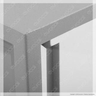 Fan Europe Intec Light Portalampada da Giardino Wall Light da Muro per Lampadine E27 - mod. I-MONDRIAN-AP SIL