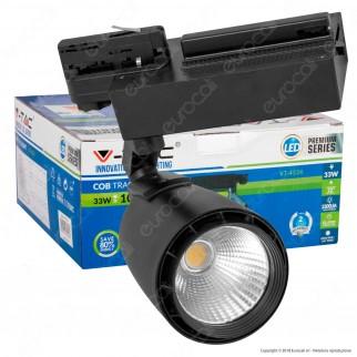V-Tac VT-4534 Track Light LED COB 33W Colore Nero - SKU 1232