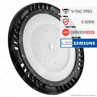 V-Tac PRO VT-9-200 Lampada Industriale LED Ufo Shape 200W SMD 120° Dimmerabile High Bay Chip Samsung - SKU 580