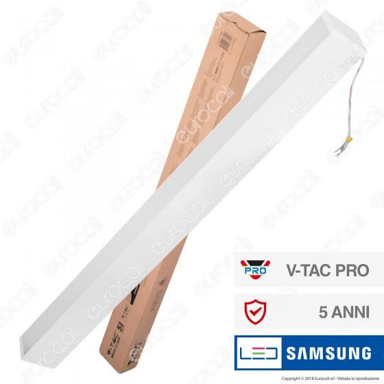 V-Tac PRO VT-7-60 Lampada LED a Sospensione Linear Light 60W Chip Samsung White Body Dimmerabile - SKU 377