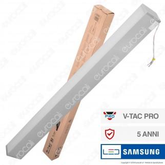 V-Tac PRO VT-7-60 Lampada LED a Sospensione Linear Light 60W Chip Samsung Silver Body Dimmerabile - SKU 377