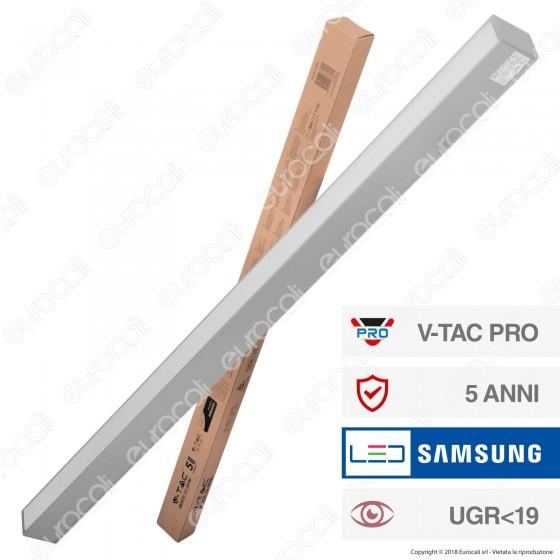 V-Tac PRO VT-7-43 Lampada LED a Sospensione Linear Light 40W Chip Samsung Silver Body - SKU 384