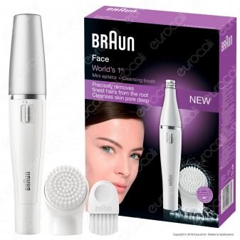 Braun Face 810 Facelift Epilatore Donna per Viso con Spazzola di Pulizia Facciale Braun - 1