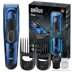 Braun Hair Clipper HC5030 Rasoio Tagliacapelli Elettrico con 17 Impostazioni di Lunghezza