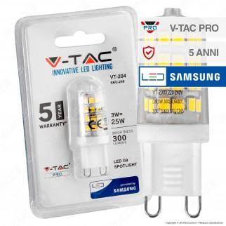 V-Tac PRO VT-204 Lampadina LED G9 3W Bulb Chip Samsung - SKU 246 / 247 / 248