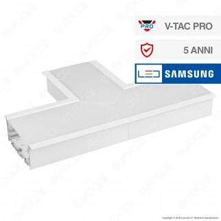 V-Tac PRO VT-7-42T Lampada LED Raccordo a Incasso Linear Light 14W Chip Samsung White Body - SKU 398